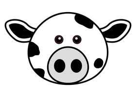 Cute Cow Face. vettore