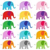grafica clipart elefante vettore