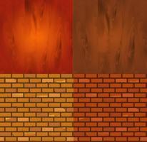 Set di diversa trama di mattoni di legno vettore