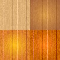 Set di diversa struttura di legno vettore