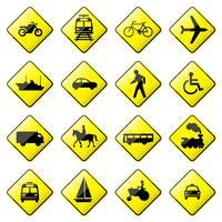 Vettore lucido del segnale stradale.