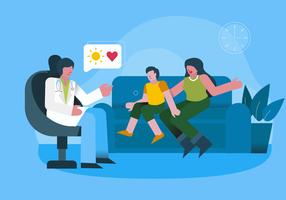 Controllo medico per l'illustrazione di vettore di salute mentale