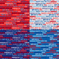 modelli di striscia tipografica blu bianco rosso USA vettore