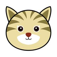 Cute Cat Vector. vettore