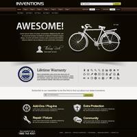 Modello di elemento di Web design sito Web.