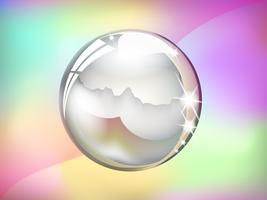 Palla di cristallo vettore