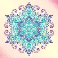 Mandala. Tatoo di amuleto tondo vintage floreale