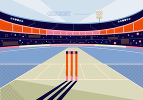Illustrazione di vettore del fondo dello stadio del cricket