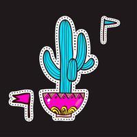 Toppe di moda, spille con cactus