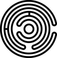 icona linea per labirinto vettore