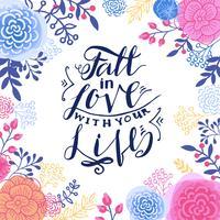 Innamorarsi della tua vita. vettore