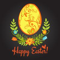 uovo di Pasqua alla lavagna vettore