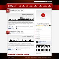 Modello di elemento di Web design sito Web. vettore