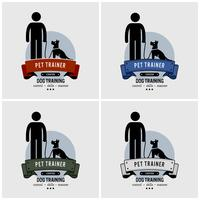 Design del logo di addestramento del cane.