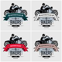 Chopper biker logo design del club.