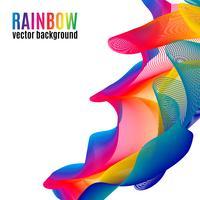 Sfondo di linee arcobaleno vettore