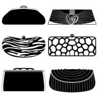 Set di borse moda. vettore