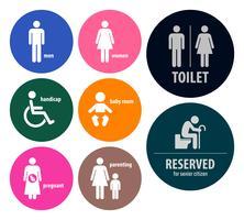 Segni di servizi igienici vettore
