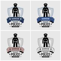 Design logo della polizia. vettore