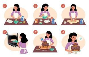 schema di infografica di cucina fatta in casa vettore