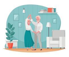 cartone animato di attività per anziani anziani vettore