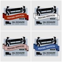 Spostamento del logo aziendale dei servizi. vettore