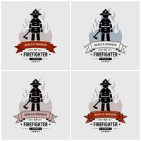 Fireman logo design. vettore