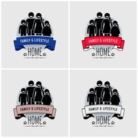 Design del logo di valore familiare. vettore