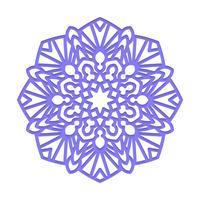 Mandala. Meditazione indiana del matrimonio. vettore