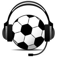 Vettore di podcast di calcio di calcio.
