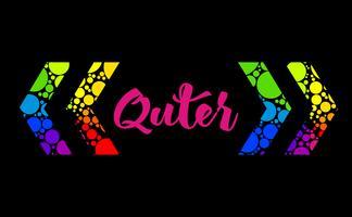 Disegno di casella di testo arcobaleno astratto con parentesi graffe colorate e il tuo testo