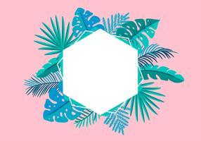 Palma tropicale delle foglie della struttura floreale di vettore di estate con il posto per testo
