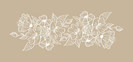 Illustrazione isolata tropicale scandinava tropicale dell'ornamento floreale della struttura di vettore della primavera