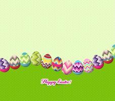 sfondo di uova di Pasqua e coniglietto