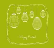 felice ornamento dell'uovo di Pasqua. Cornice floreale