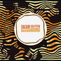 Sfondo di glitch di Safari a strisce arancione. vettore