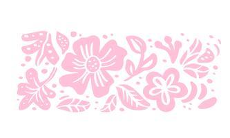 Composizione tropicale floreale nel mazzo di vettore scandinavo di estate di estate per progettazione