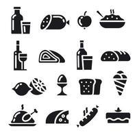 set di icone di cibo vettore