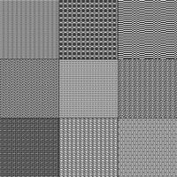 mod motivi geometrici in bianco e nero