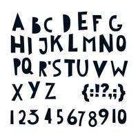 ABC lettere e numeri latini.
