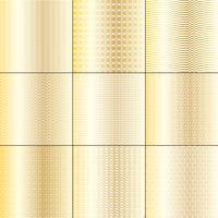 mod motivi geometrici in oro e bianco