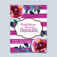 acquerello colorato floreale con fiori estivi vettore