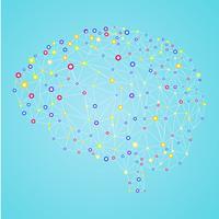 Banner di reti neurali artificiali. Una forma di connessionismo ANNs. Sistemi informatici ispirati alle reti neurali biologiche. Illustrazione vettoriale