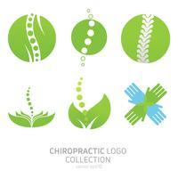 Imposta il logo della terapia manuale. Chiropratica e altre medicine alternative. Studio medico, corsi di formazione. Vector piatta illustrazione sfumata