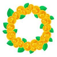 Set di medaglie d'oro o sigilli. Tutti i pezzi sono separati e facili da modificare.