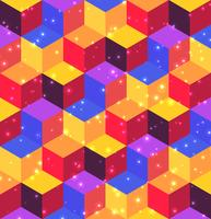 Motivo geometrico di cubi e losanghe.