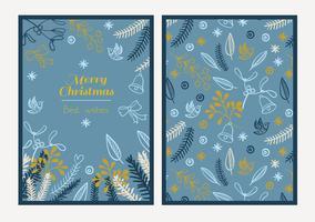 Cartolina Buon Natale vettore