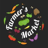 mercato degli agricoltori di design flyer