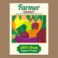 mercato degli agricoltori di design flyer vettore