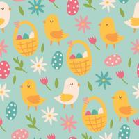 Carino modello di carta da parati di Pasqua